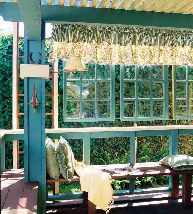 окна на веранде
