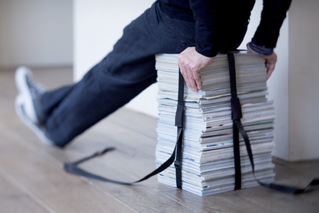табуретка своими руками из стопки журналов