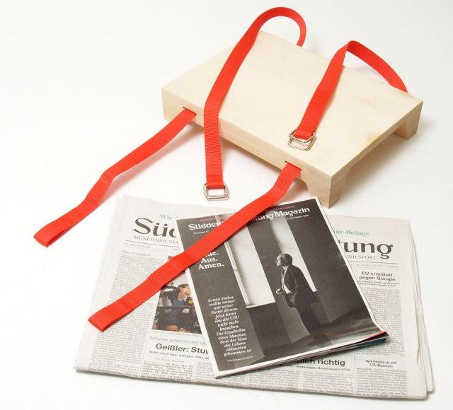 табурет своими руками из стопки журналов