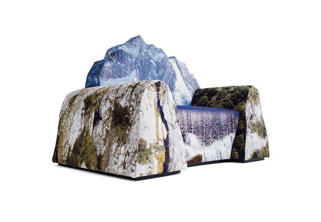 кресло Montanara в виде горного пейзажа