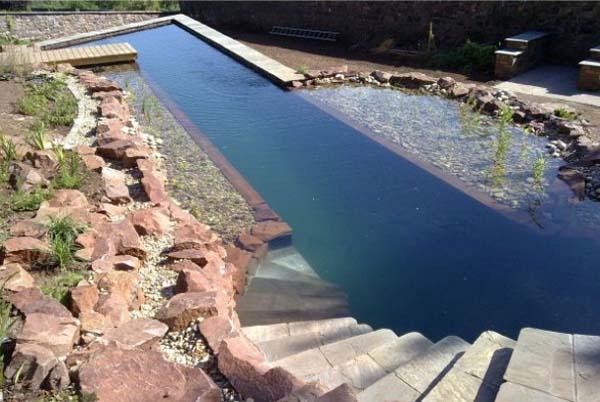 декоративный пруд бассейн на даче