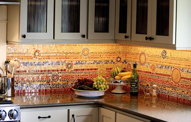 фартук для кухни плитка мозаика