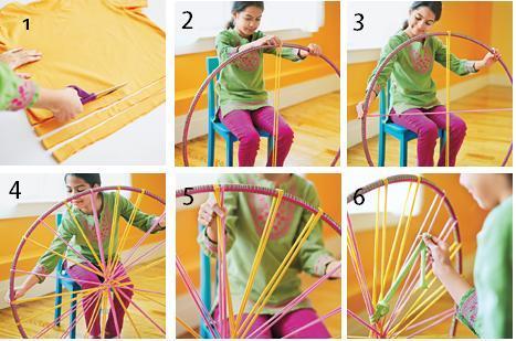 мастер-класс как сделать коврик на обруче