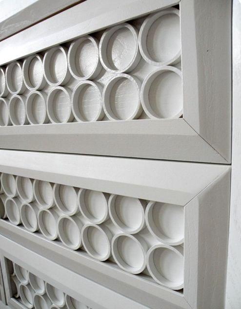 мебельный декор из пластиковых труб