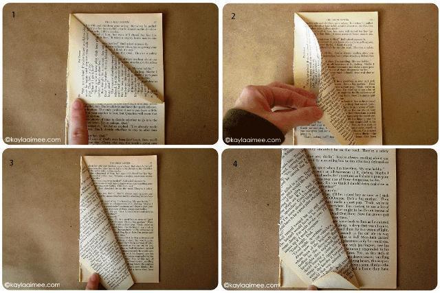 делаем своими руками елочку из книги