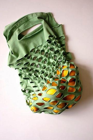 сумка - авоська своими руками из футболки