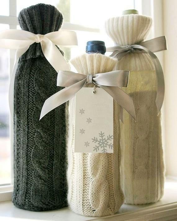 как упаковать красиво вино в подарок