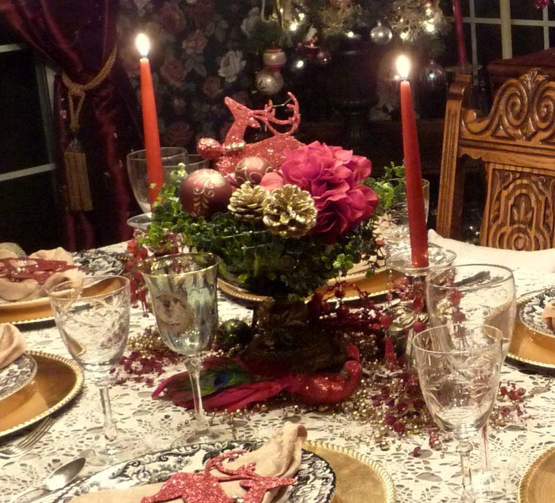 новогодний декор розами