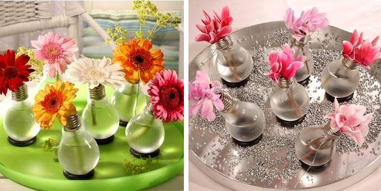 вазы - поделки из лампочки