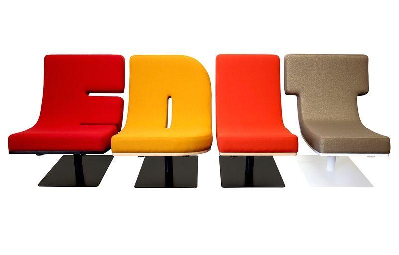 мебель в виде букв
