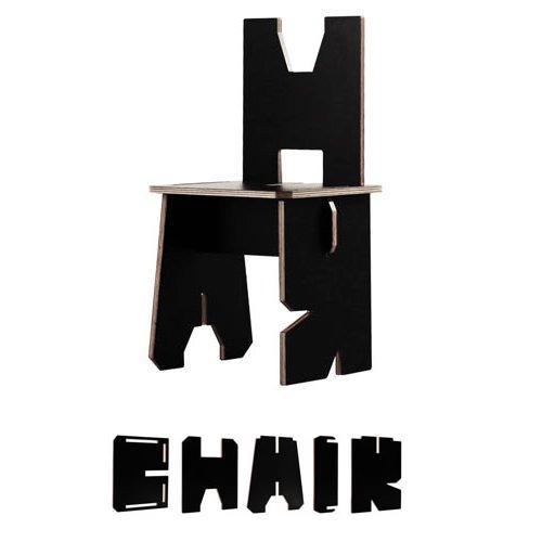 стул из букв
