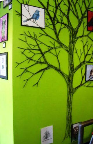 стринг арт дерево на стене