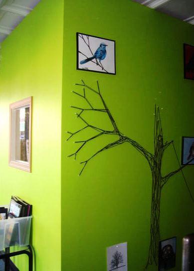 стринг арт дерево - процесс создания