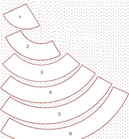 шаблон выкройка для елочки из войлока своими руками