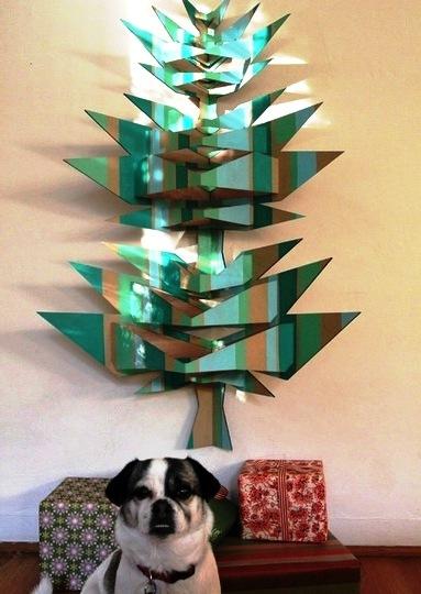 pop tree искусственная елка из фанеры