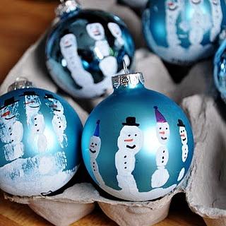 елочная игрушка снеговик роспись шарика