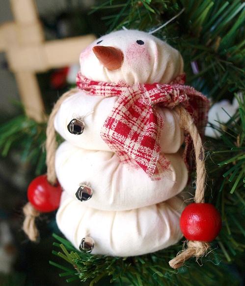 елочная игрушка снеговик своими руками из риса
