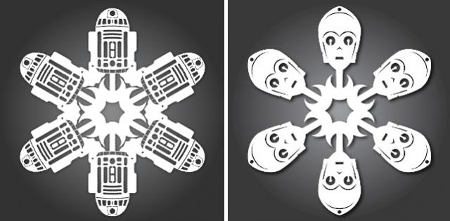 бумажные снежинки Звездные войны