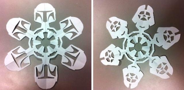 бумажные снежинки Звездные войны своими руками