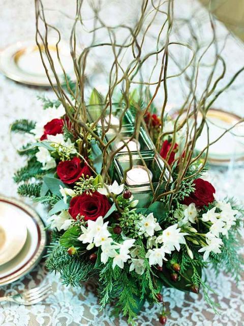 цветочные композиции новогодние