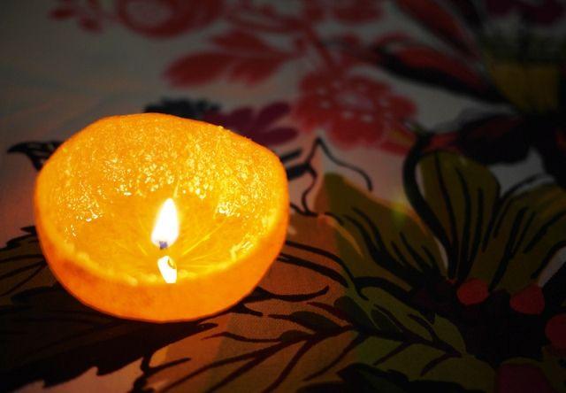 свечи из мандарина мастер-класс