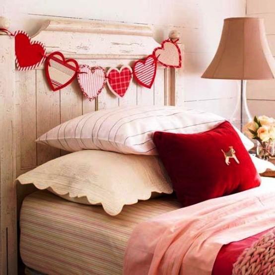 декор интерьера в День влюбленных