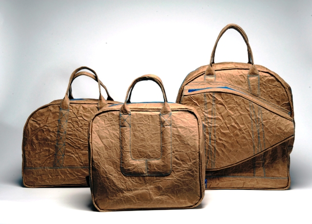сумки из картона, ламинированного тканью
