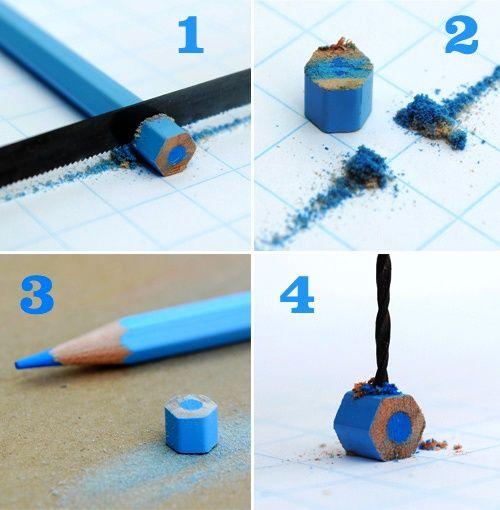 мастер-класс как сделать украшения из карандашей