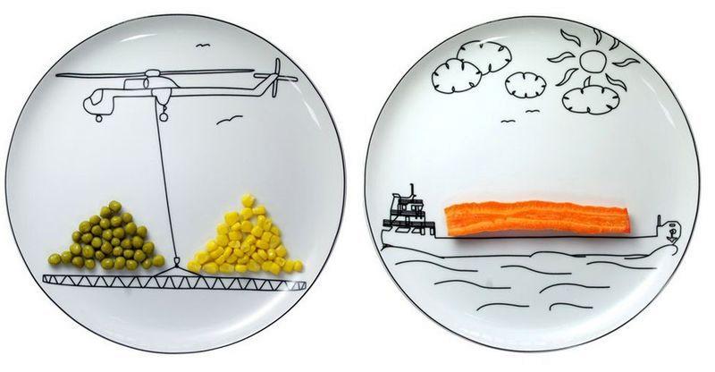 рисунки на тарелках для детей