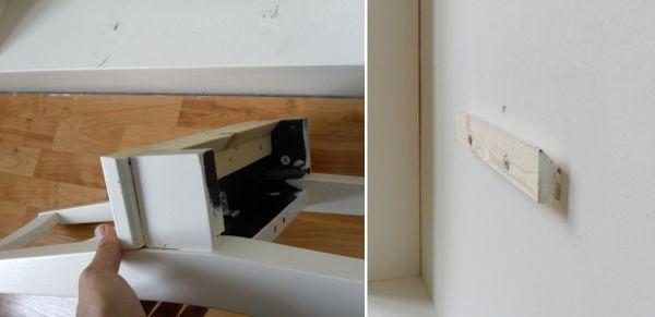 стул-вешалка в стене своими руками