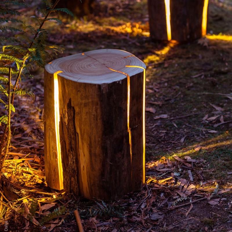 светильник из пня duncan meerding