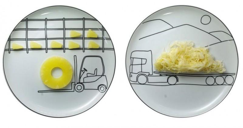 оригинальные рисунки на тарелках