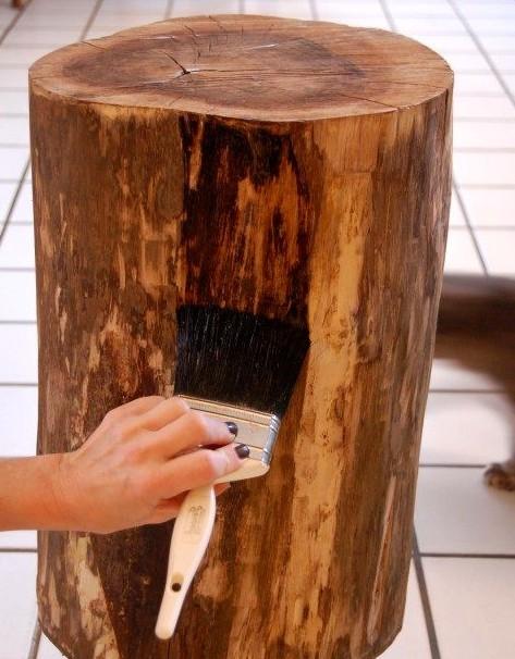 как сделать стол из пня