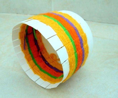 пластиковая корзина для рукоделия своими руками