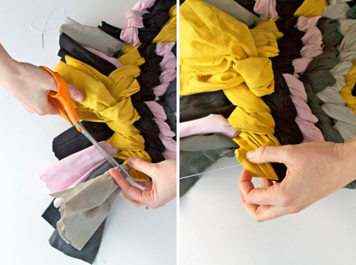 коврик своими руками из полос ткани