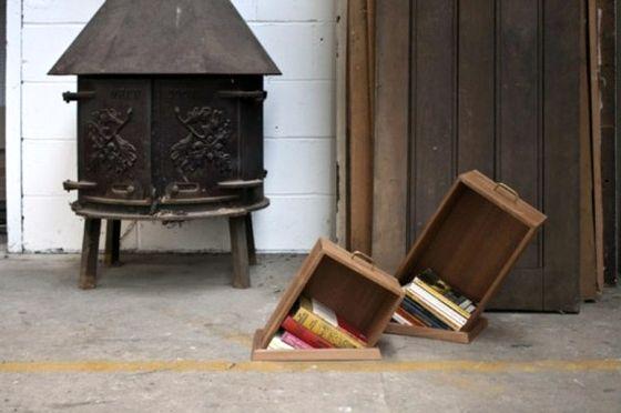 оригинальные книжные стеллажи дыра в полу