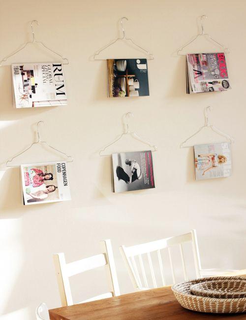 проволочная вешалка для книг и журналов