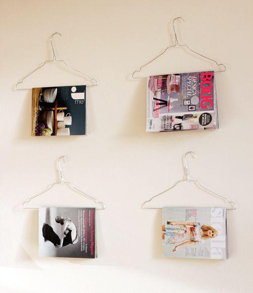 проволочная вешалка для журналов и книг
