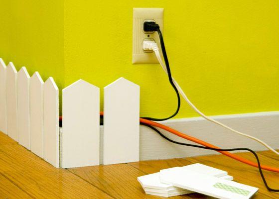 плинтус-забор - способ как спрятать провода в квартире