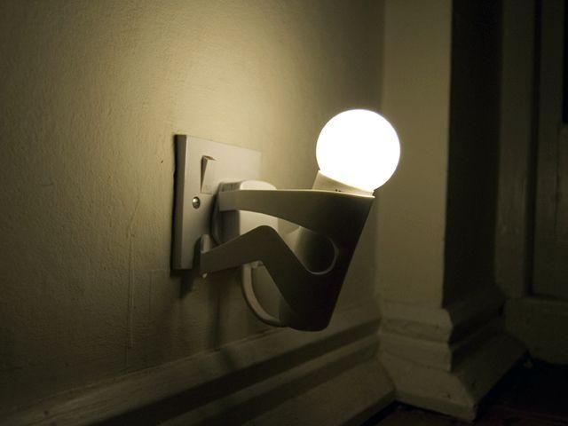 лампочка в виде человека