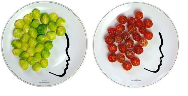 рисунки на тарелках Богуслава Сливинского