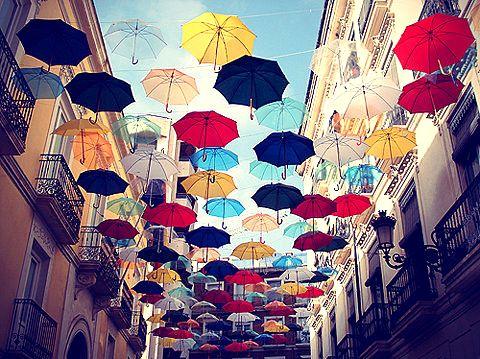 зонты декор улицы