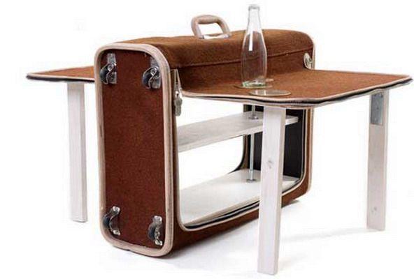 раскладной столик из чемодана