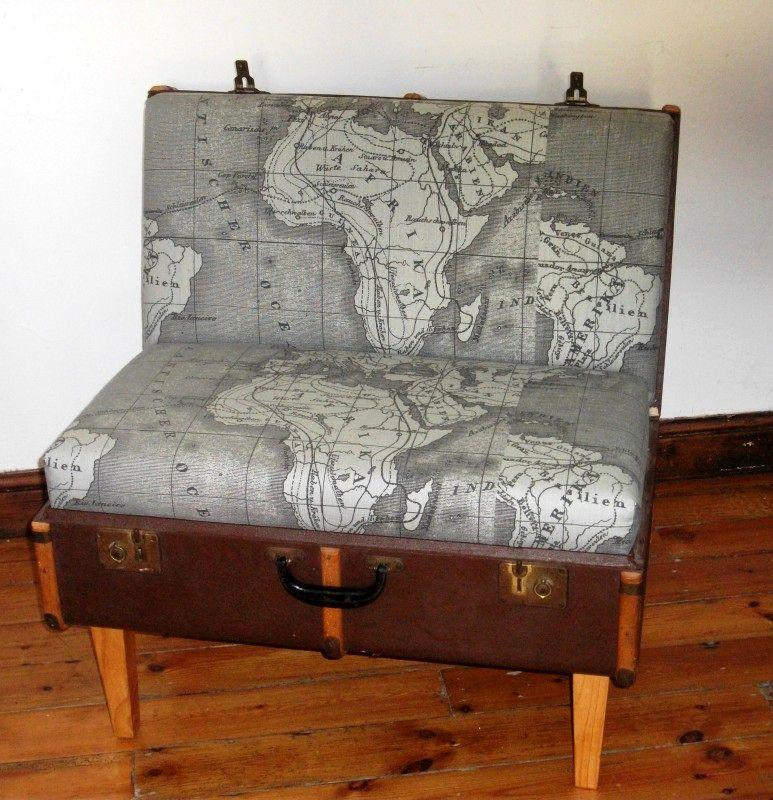 что сделать из чемодана - кресло