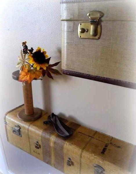 что сделать из чемодана - полку