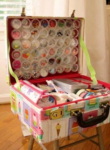 что сделать из чемодана - органайзер