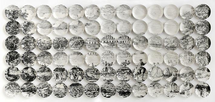 тарелки - картина мозаика