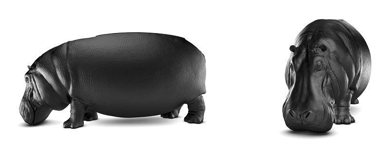 диван в виде бегемота