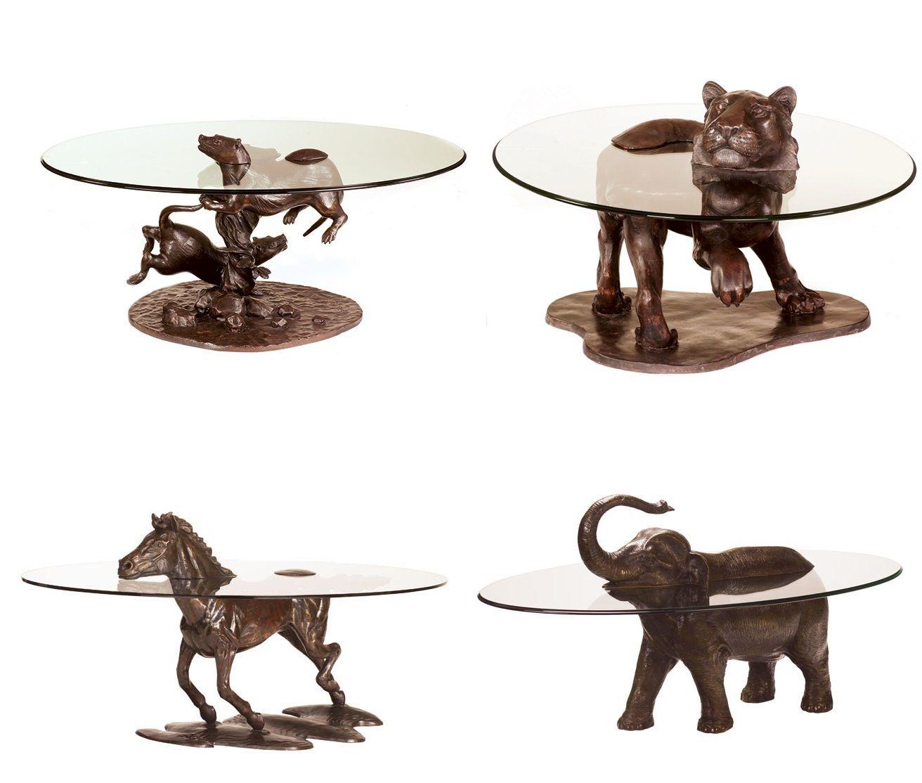 кофейные столы в виде животных