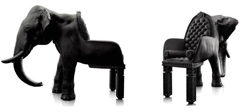 кресла в виде животных - слон